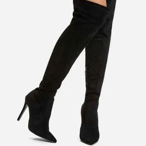 Shein over knee high heel boots